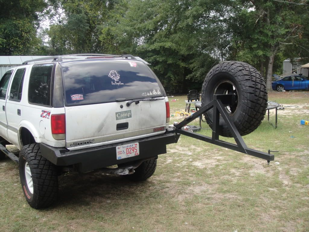 medium resolution of s10 blazer rear bumper tire carrier google search