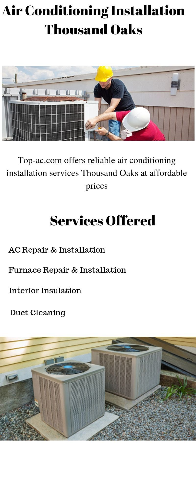 Air Conditioning Installation Thousand Oaks Air