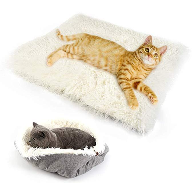 Amazon 猫用ベッド キャットベッド ペット用マット 暖かい マットクッション ネコ ねこ ベッド ふわふわ もこもこ 猫用 洗える 2wayタイプ Uligota ベッド ソファ 通販 暖かい 猫用ベッド もこもこ