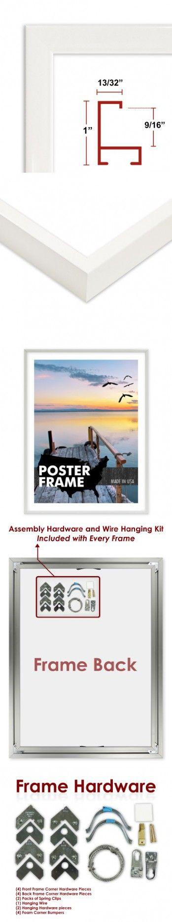 25 X 38 Poster Frame Profile 93 White Custom Size Picture Frame Poster Frame Picture Frames Frame