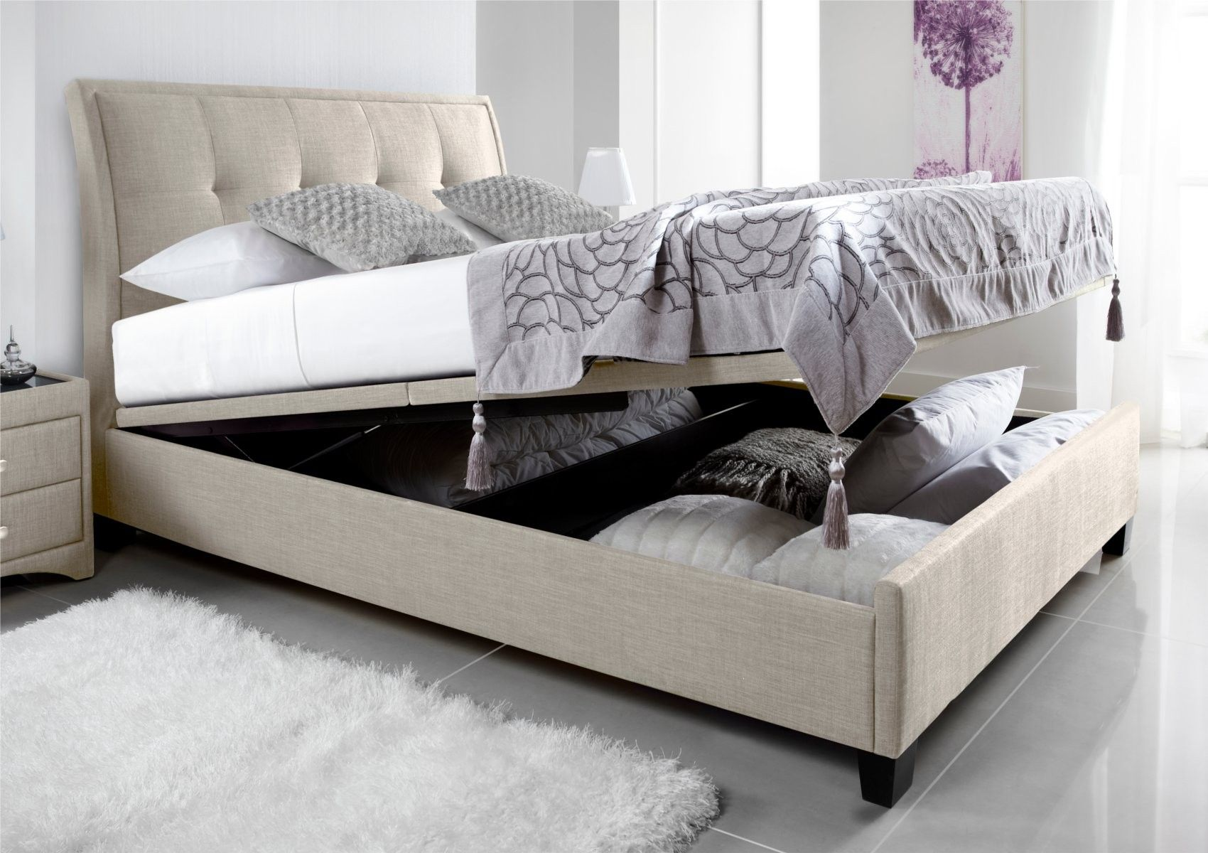 Ottomans For Bedroom Fabric Ottoman Bed
