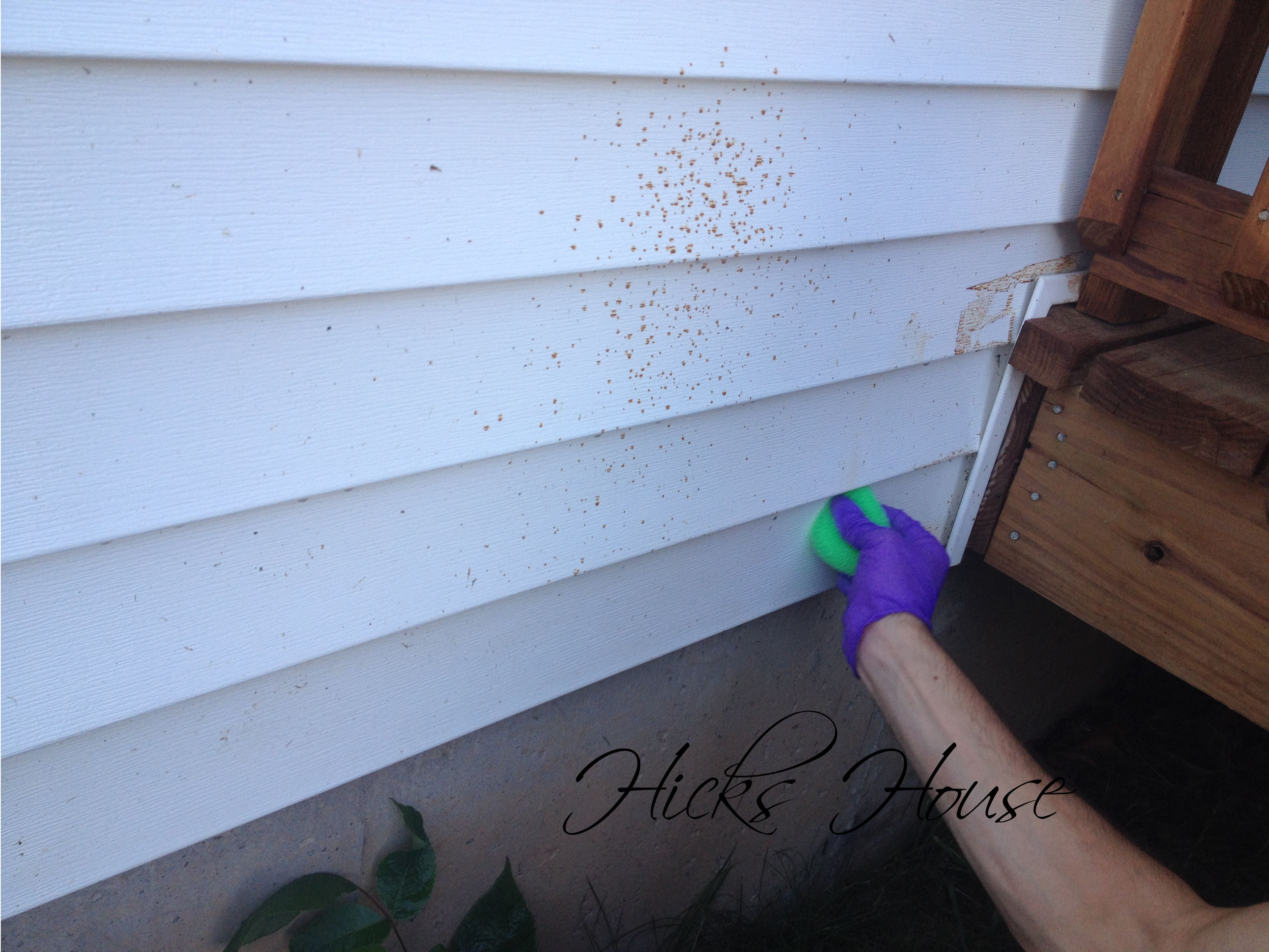 How To Remove Stain From Vinyl Siding Cleaning Vinyl Siding Vinyl Siding Staining Deck