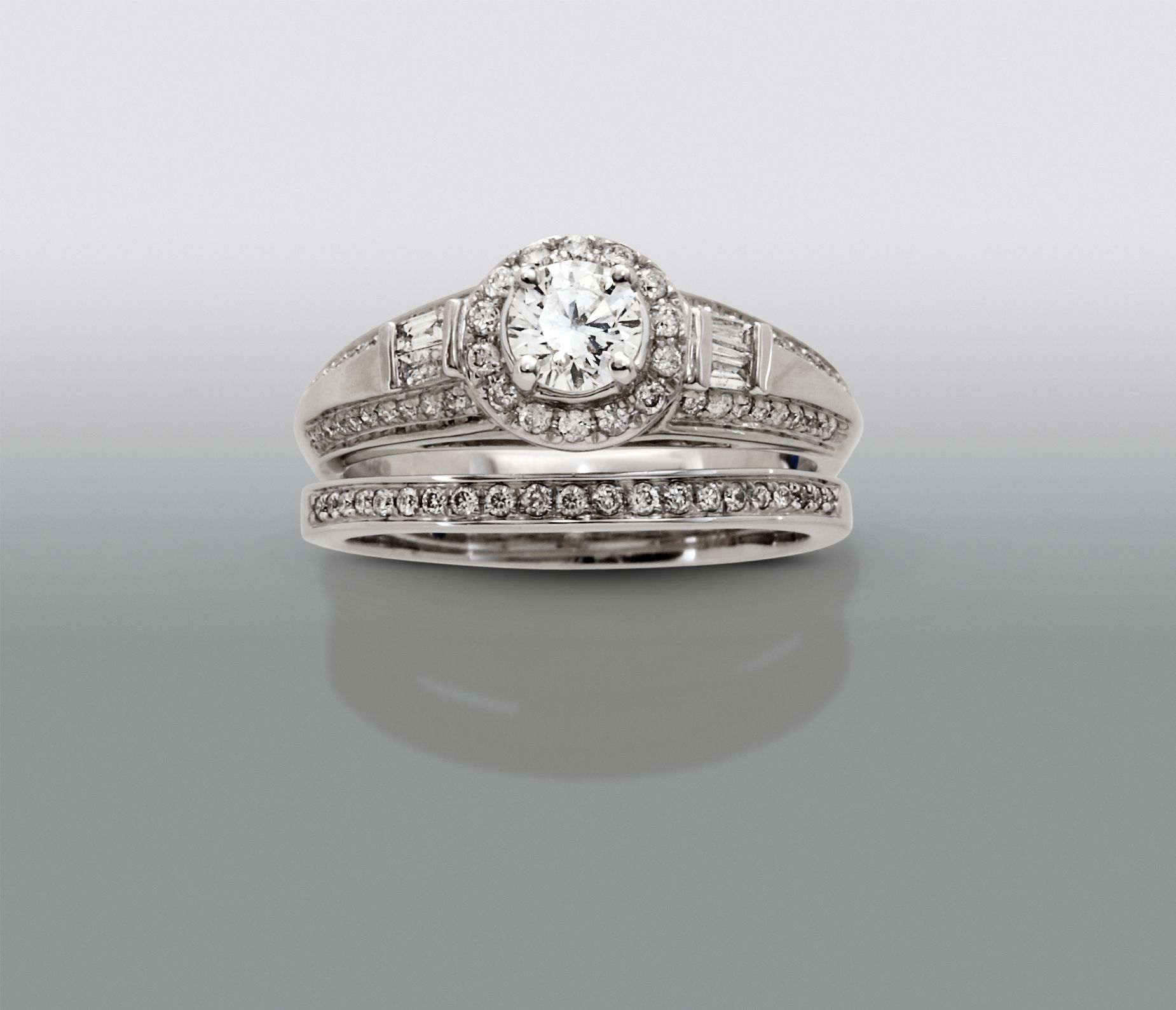 Good David Tutera 1 Cttw Certified Diamond Bridal Set 14Kt White Gold U003c3 I LOVE  WHITE