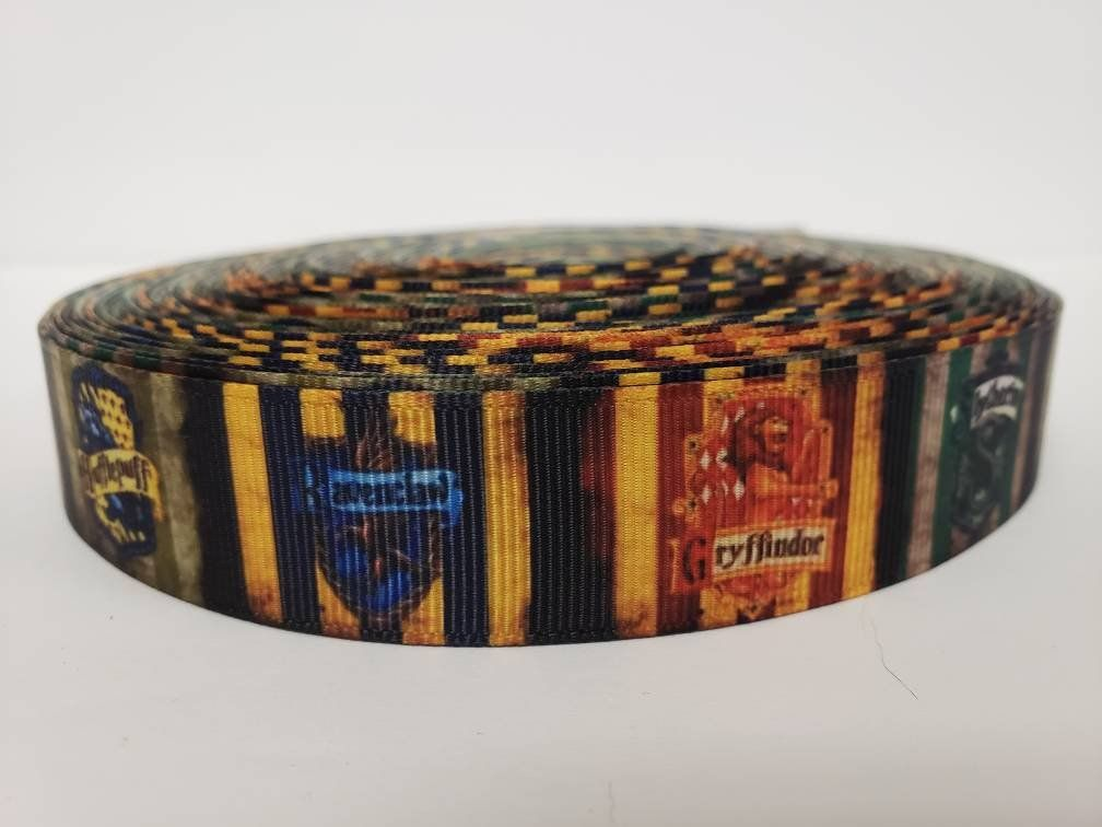 "Harry Potter Grosgrain Ribbon 1/"" By the yard NEW Slytherin Hogwarts House"