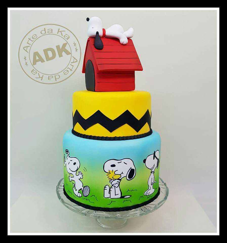 Snoopy Cake Snoopy Cakes Cupcakes and Cookies Pinterest