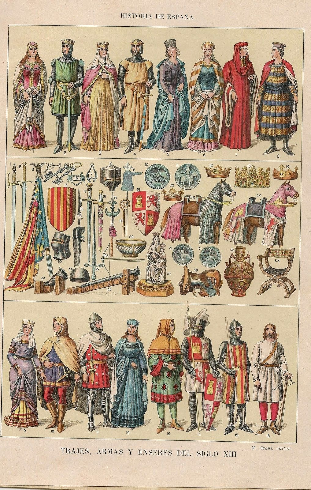 History Of Spain Fashions The 13th