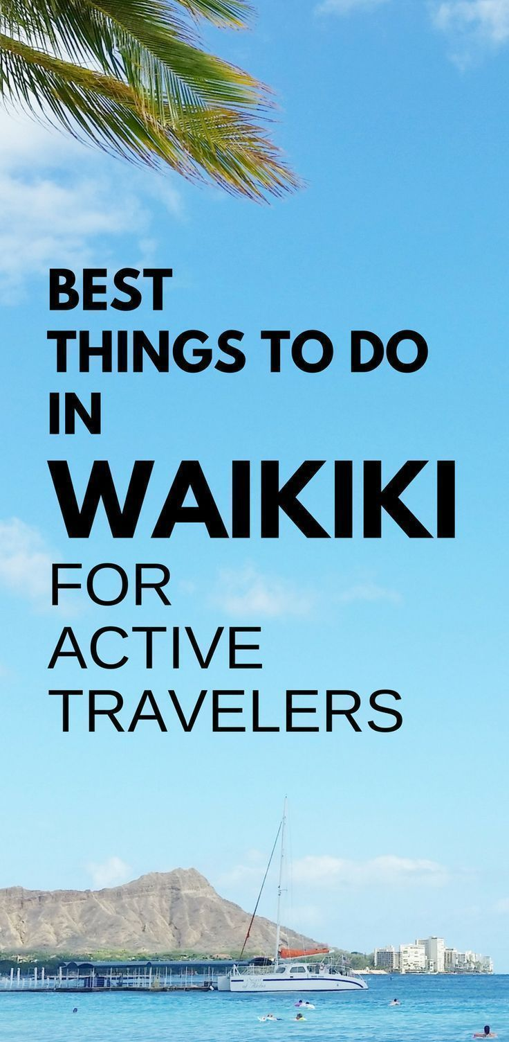 Best things to do in Waikiki Beach, active travelers! Planning Hawaii itinerary - Waikiki in one week: Oahu Hawaii vacation tips, ideas. Hikes, snorkeling beach, surf, biking. Cheap, free activities on a budget. Tours. With kids, families. Later shopping, food, eating, restaurants! USA bucket list destinations, honeymoon. Active travel clothes for what to wear in Hawaii, what to pack for Hawaii packing list. Walk Hilton Hawaiian Village to Sheraton. Waikiki Travel Guide. #hawaii #oahu #waikiki #beachhoneymoonclothes