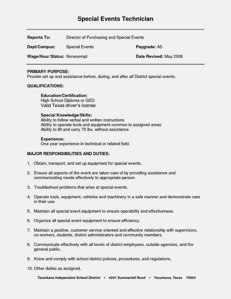 Resume Examples General Labor examples general labor