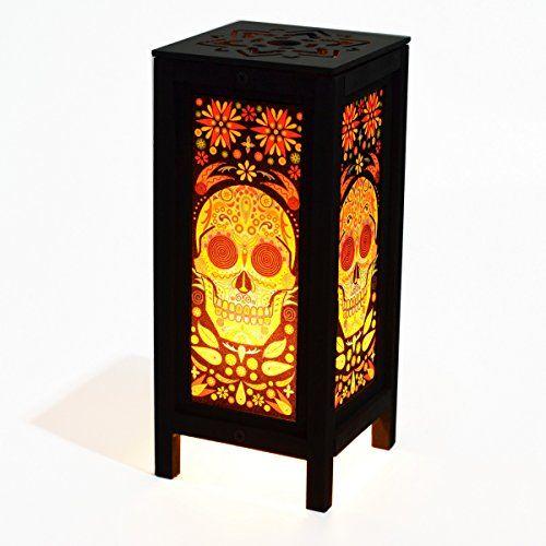 Decorative Lamp Thai Vintage Handmade Asian Oriental Fantasy Skull