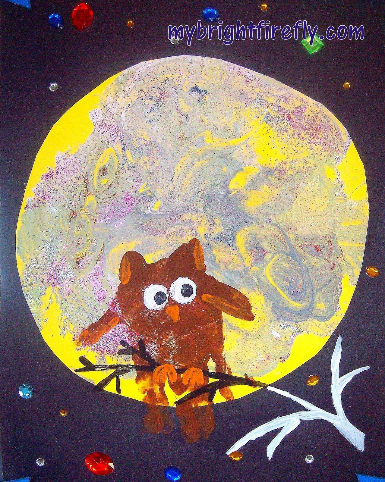 M Is For Moon Halloween Art