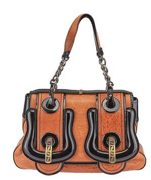 765fb40f5bcb Fendi  b Bag  Leather   Patent Leather (47334) Brown   Black Satchel.