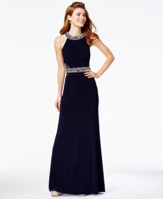 0e0bc22871f B Darlin Juniors  Jeweled Open-Back Gown