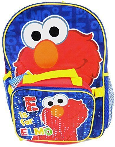 Sesame Street Elmo Large Backpack with Detachable Utility Bag School Kindergarte