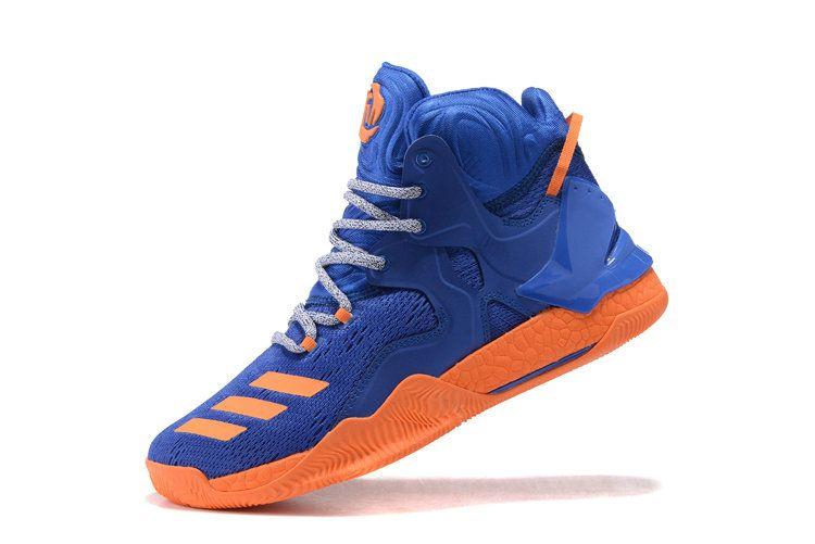 the latest 8e860 947e1 Derrick Rose 7 VII Knicks Hero Blue Total Orange