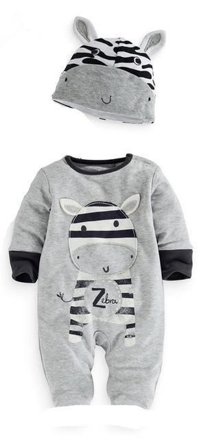3faa658d079 2019 spring autumn kids clothes new born baby girls boys rompers+hat  long-sleeveddresskily