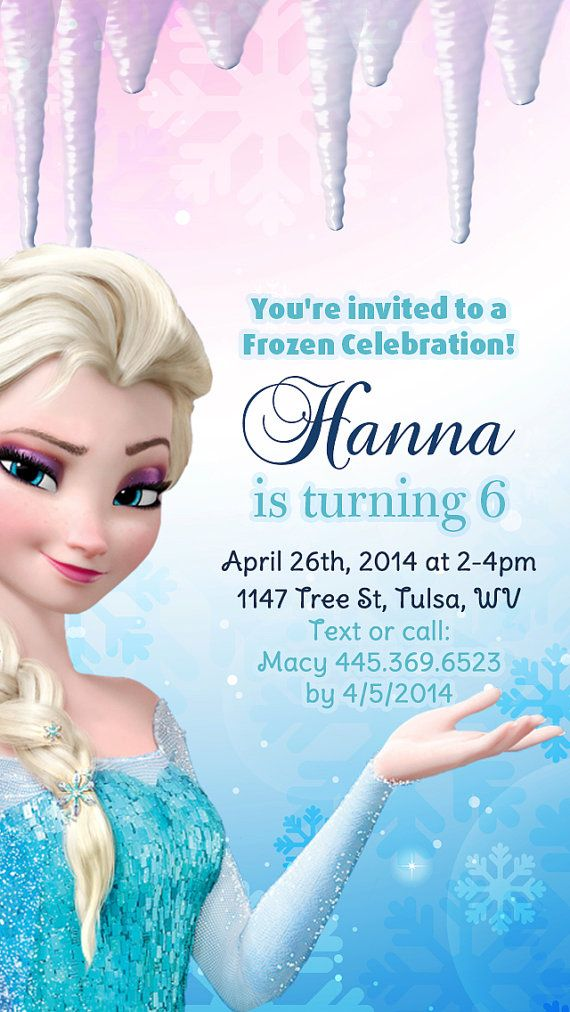 Disney Frozen Birthday Party Invitation Kids By RoyaltyInvitations - Birthday invitation frozen theme