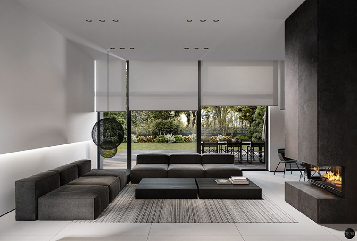 Three black and white interiors that ooze class poland house and