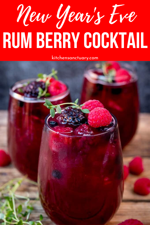 The Best New Year's Eve Rum Berry Cocktail
