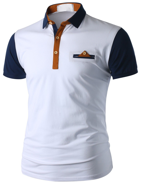 Doublju men 39 s short sleeve pocket polo shirt cmtts015 for Polo t shirts with pockets