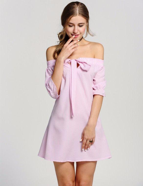 OffShoulder A-Line Mini Dress | Moda | Pinterest | Vestiditos ...