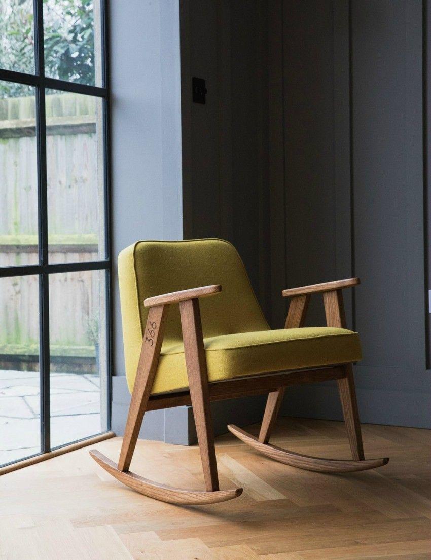 Jozef Chierowski 366 Rocking Chair Wool At Rose U0026 Grey