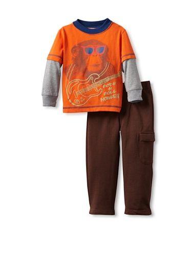 58% OFF Baby Togs Guitar Playwear Set (Orange/Brown)