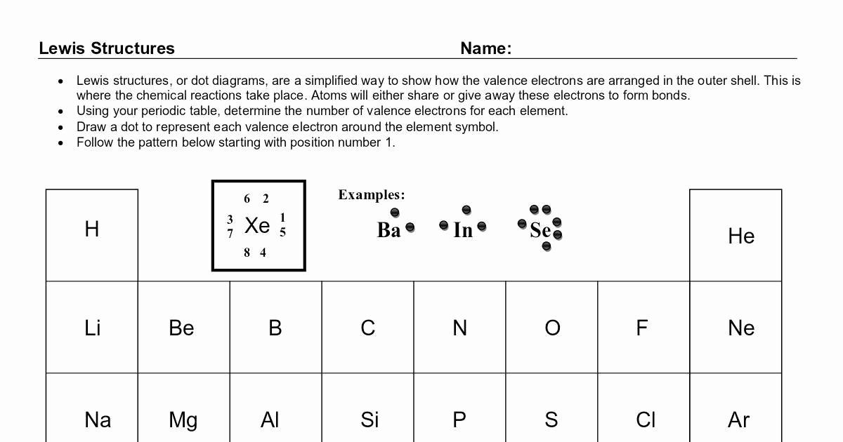 50 Valence Electrons Worksheet Answers In 2020 With Images