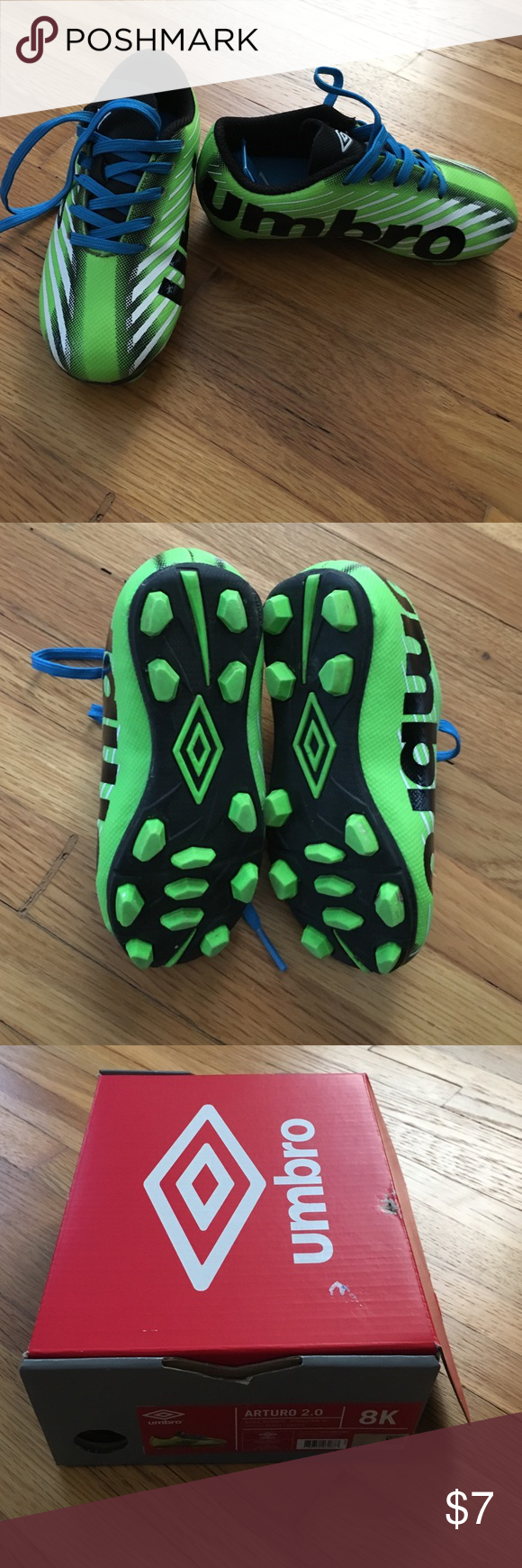 Toddler Boys Soccer Cleats Toddler boys soccer cleats. Umbro. Size 8. Worn  once. Comes in box. Umbro Shoes 6d9c4bdca2f2