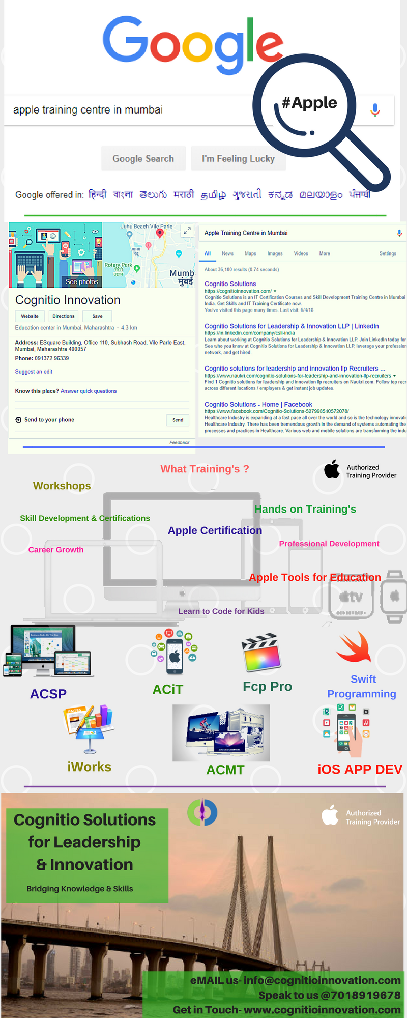 Apple #Training- https://cognitioinnovation.com/ We reach out to ...