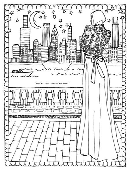 Color In Fashion Adult Coloring Book Review Giveaway