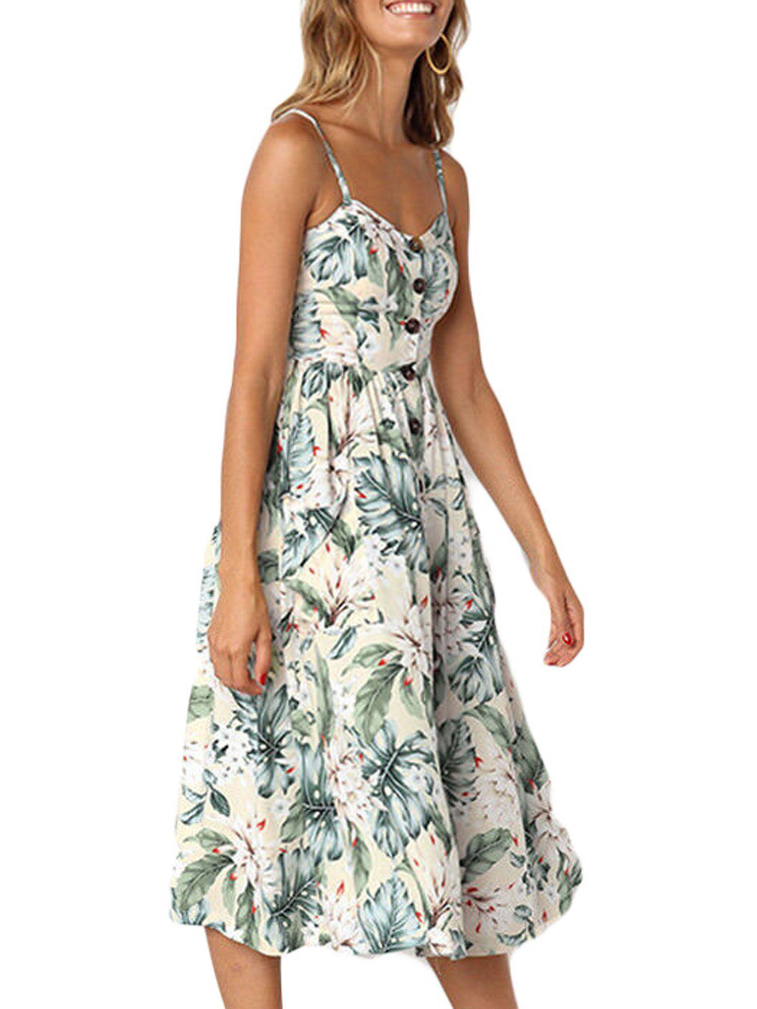 Wodstyle Women S Strappy Floral Summer Beach Party Midi Swing Dress Walmart Com Summer Maxi Dress Floral Midi Swing Dress Summer Dresses [ 2000 x 1500 Pixel ]
