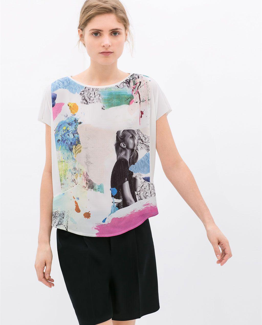 GIRL'S PRINTED T-SHIRT from Zara | Ropa, Diseña tu ropa ...