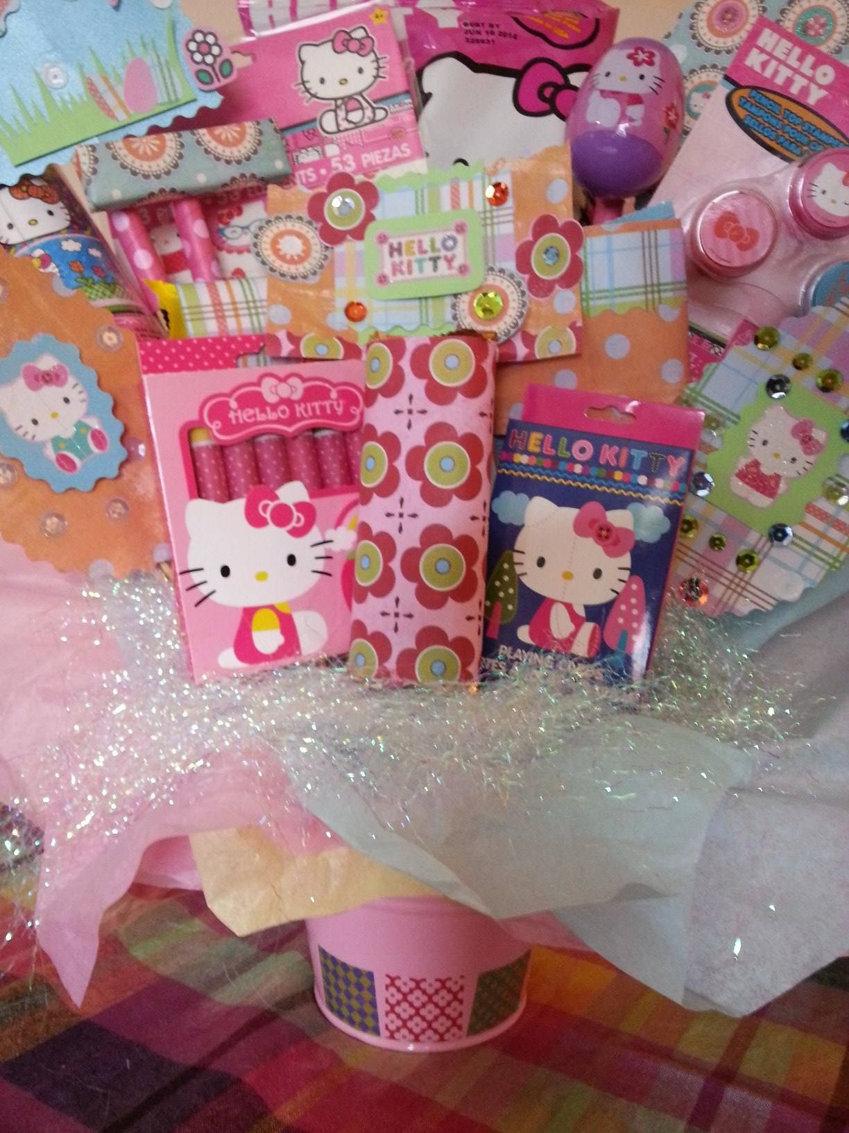 Hello kitty easter bouquet easter gift baskets easter