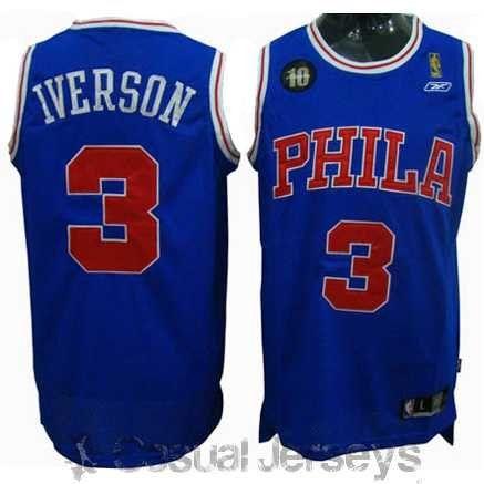 Camiseta 10 aniversario alternativa de Allen Iverson, Philadelphia 76ers Mod.2 - Camisetas NBA 2012 - Tienda Casual Jerseys