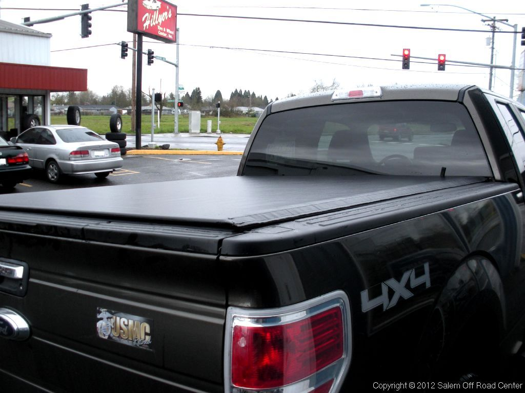 A Truxedo LoPro roll up bed cover on a 2008 Ford F150
