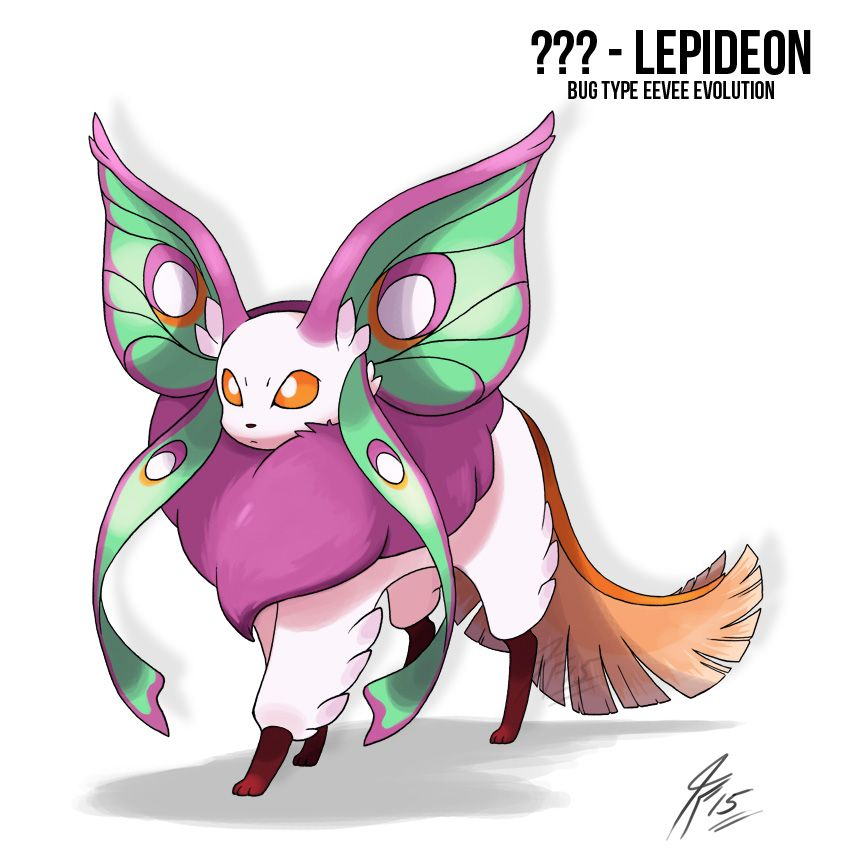 Lepideon the bug Type Eeveelution by TamarinFrog on DeviantArt ...