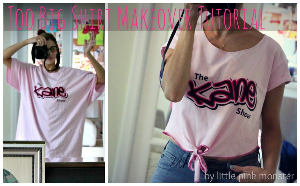 how to make a too big shirt smaller cuter something youll actually wear by little pink monster