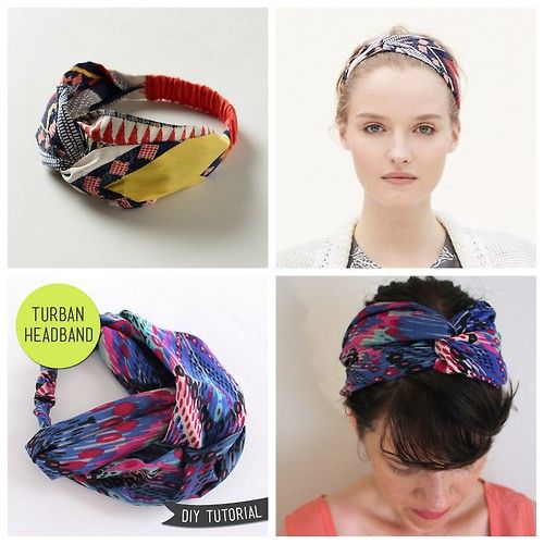 DIY Anthropologie Inspired Turban Headband Tutorial from Lula Louise here.  I ve seen lots of turban DIYs but I really like this easy t. 333f484ba16