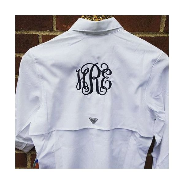 eef76ee3 Monogrammed Tamiami Ii Columbia Pfg Fishing Shirt Womens ($69) ❤ liked on  Polyvore featuring blue, tops and women's clothing