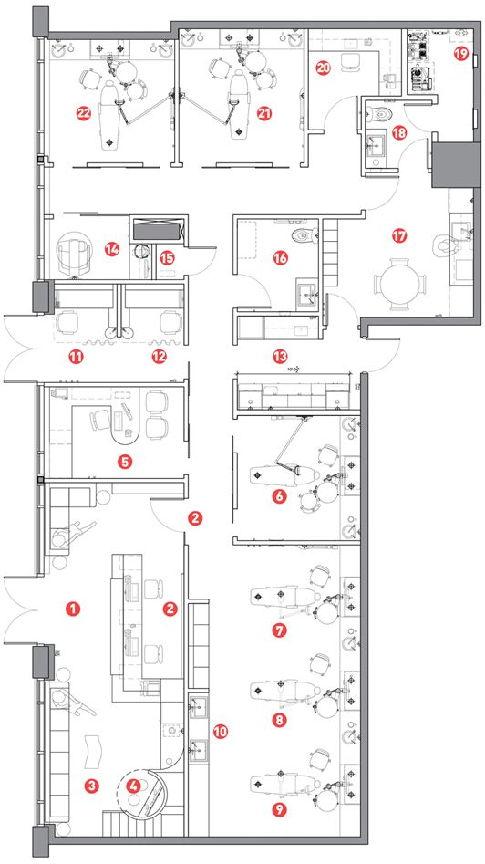 Recovery Room Design: LAYOUT 1. Entrance 2. Reception 3. Waiting Area 4. Play