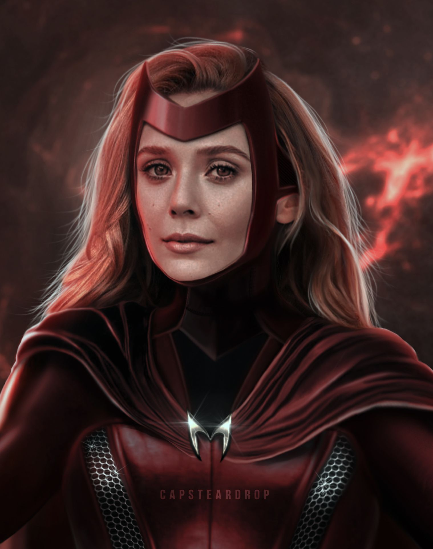 Scarlet Witch Concept Art Portrait In 2020 Scarlet Witch Scarlet Witch Marvel Marvel Concept Art