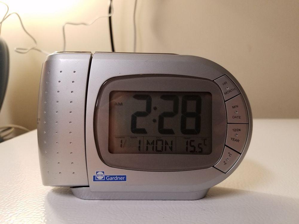 Byk Gardner Portable Travel Lcd Alarm Clock W Time Projection For Ceiling Wall Digital Alarm Clock Alarm Clock Interesting Things