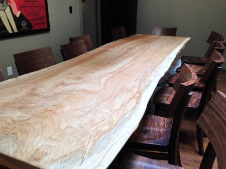 Live edge wood slabs black 39 s farmwood dining tables for Reclaimed wood bay area ca