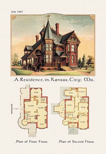 A Residence In Kansas City Missouri Victorian House Plans