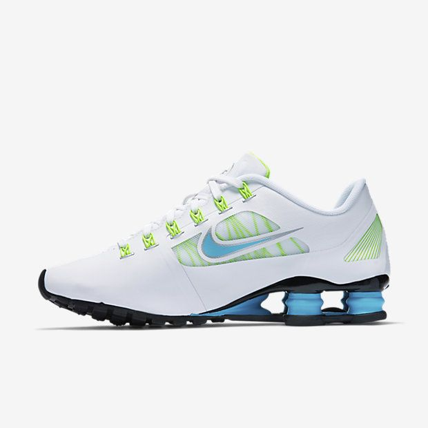 Women s Nike Shox Superfly R4 White Metallic Silver Flash Lime Clearwater 5a5359785