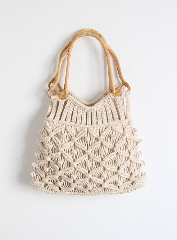 Vintage 1960 S Macrame Bag By Salvagelife On Etsy