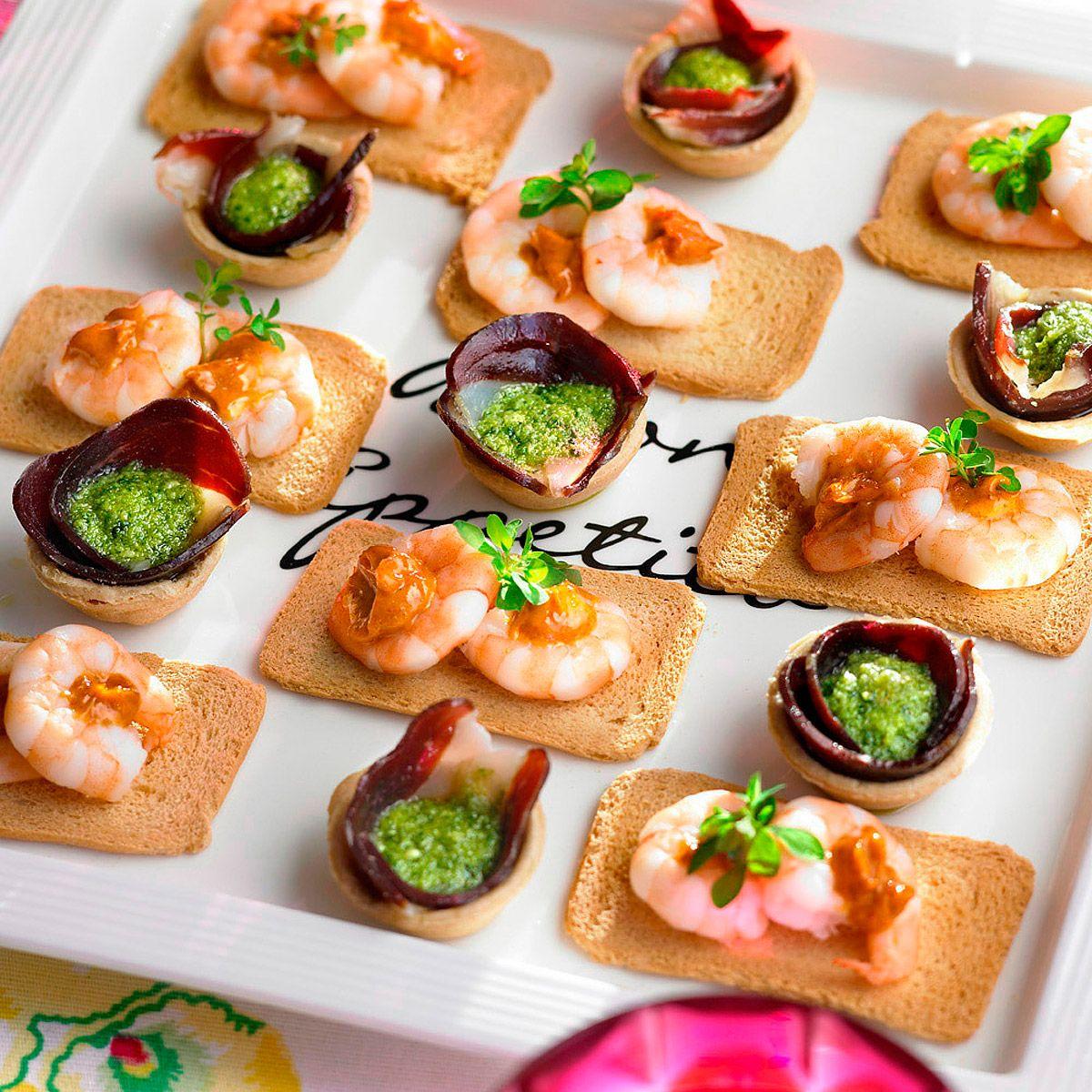 Canap s de langostinos con mayonesa de piment n recipe for Recetas para canape