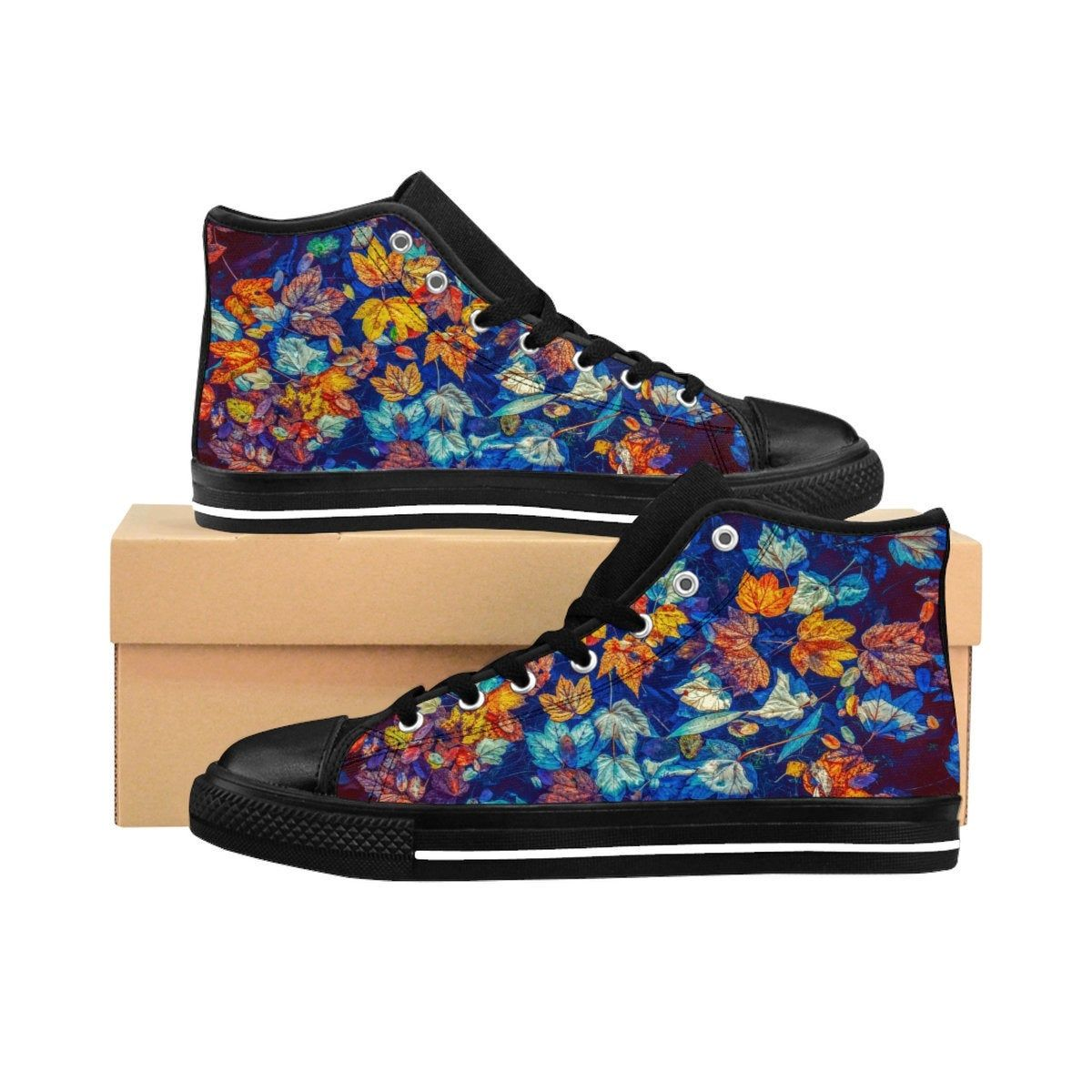 Fall Leaves High top Shoes | Autumn Hi Tops Kicks ...