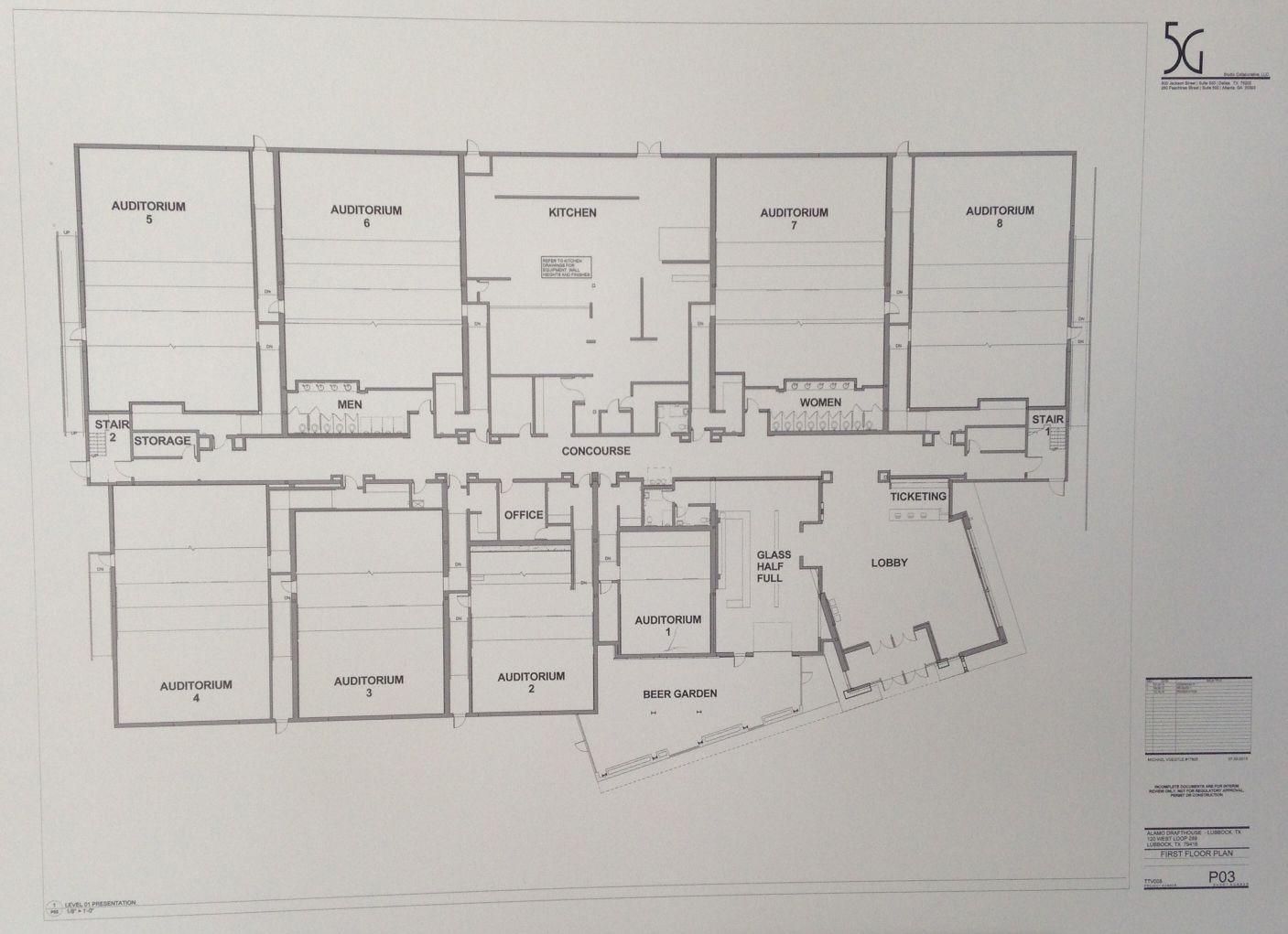 alamo drafthouse cinema floor plans - Google Search   Cinema/Movie ...