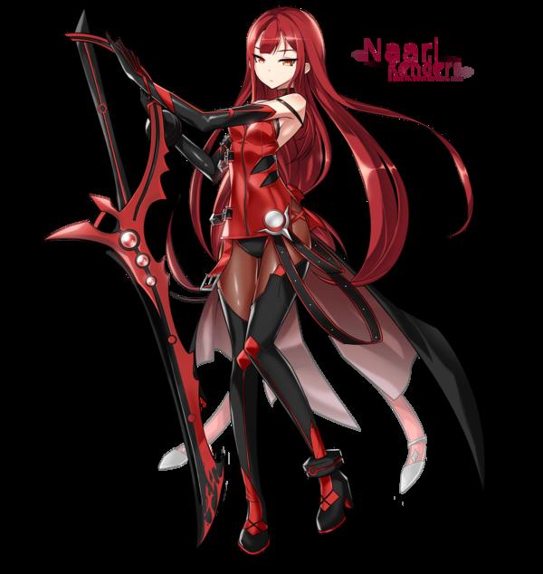 Naruto S Older Sister Elsword Crimson Avenger Anime Character Design